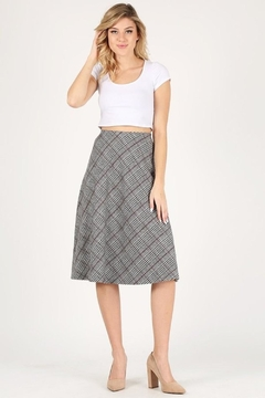Shoptiques Product: Plaid Midi Skirt