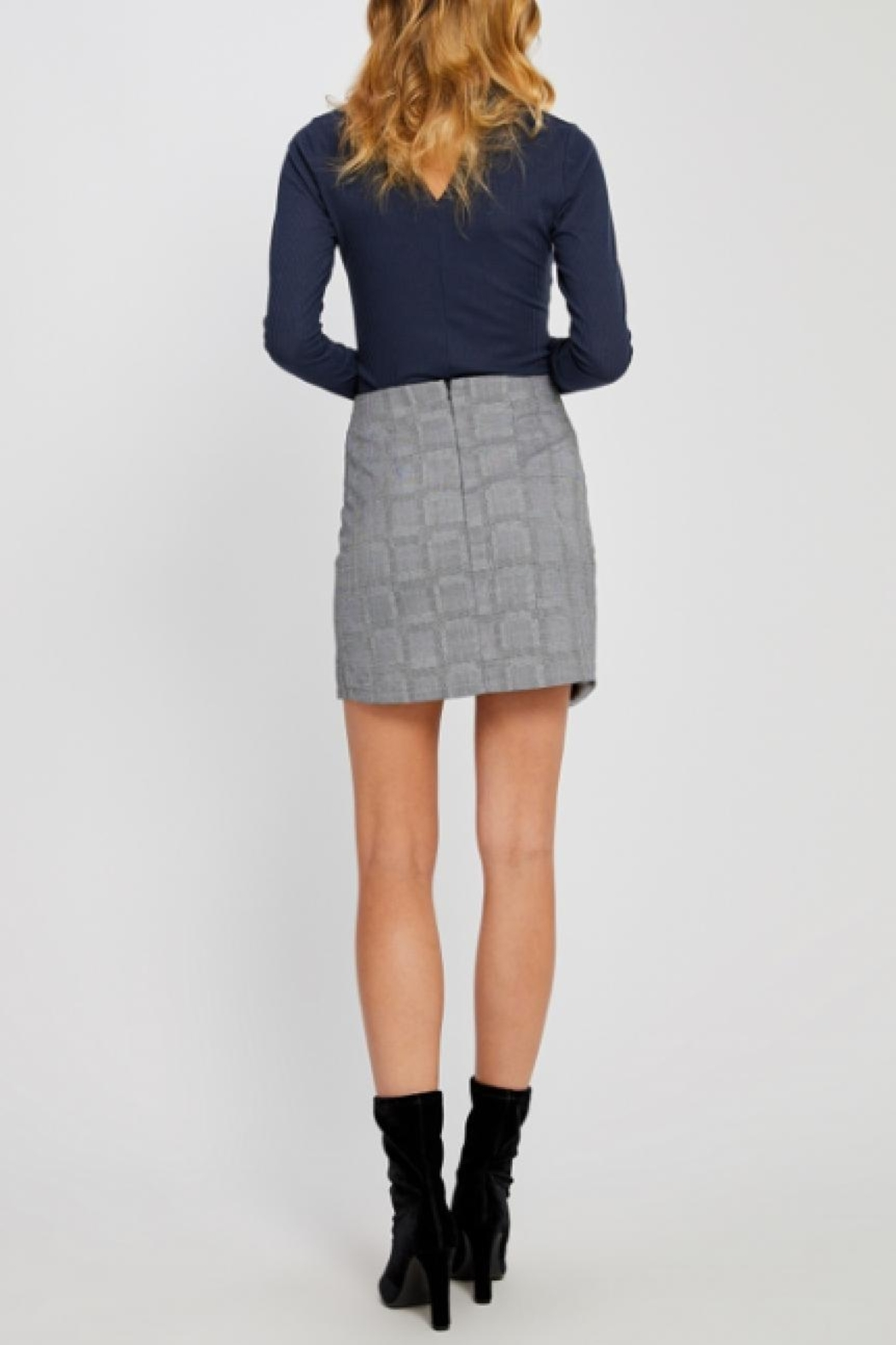 Gentle Fawn Plaid Mini Skirt - Side Cropped Image
