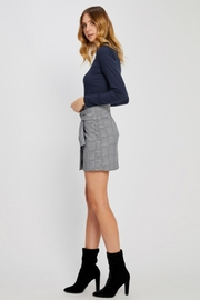 Gentle Fawn Plaid Mini Skirt - Front full body