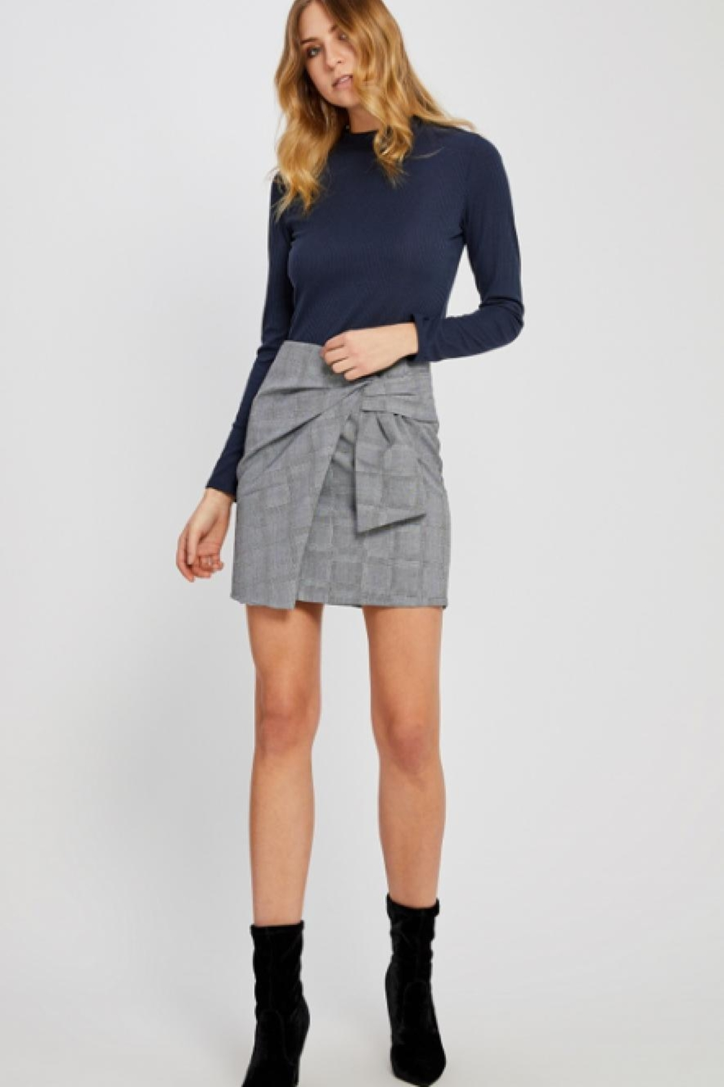 Gentle Fawn Plaid Mini Skirt - Main Image