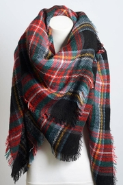 Leto Plaid Multi Scarf - Front full body