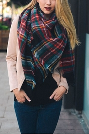 Leto Plaid Multi Scarf - Front cropped