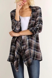 LuLu's Boutique Plaid Open Cardigan - Product Mini Image