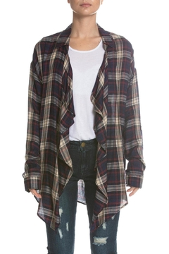 Elan Plaid Open Cardigan - Alternate List Image