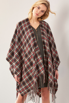 Giftcraft Inc.  Plaid Open Front Cape - Product List Image