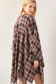 Giftcraft Inc.  Plaid Open Front Cape - Side cropped