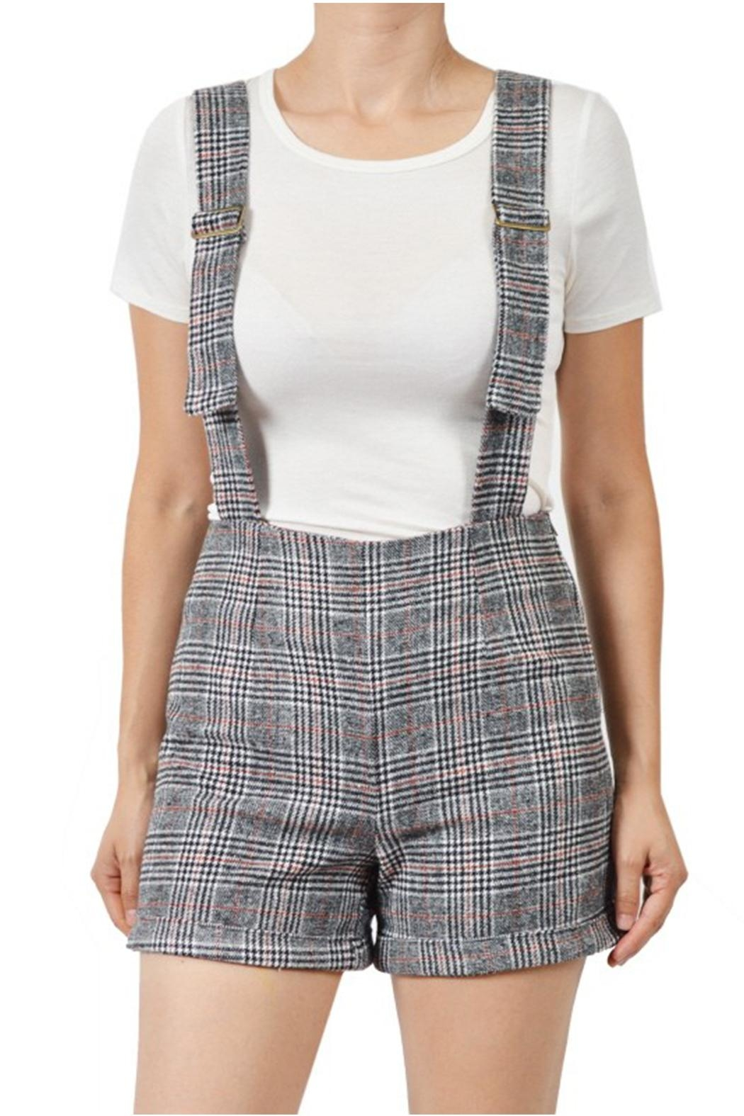 ba0acd762318 Potter s Pot Plaid Overall Shorts from New York by Dor L Dor ...