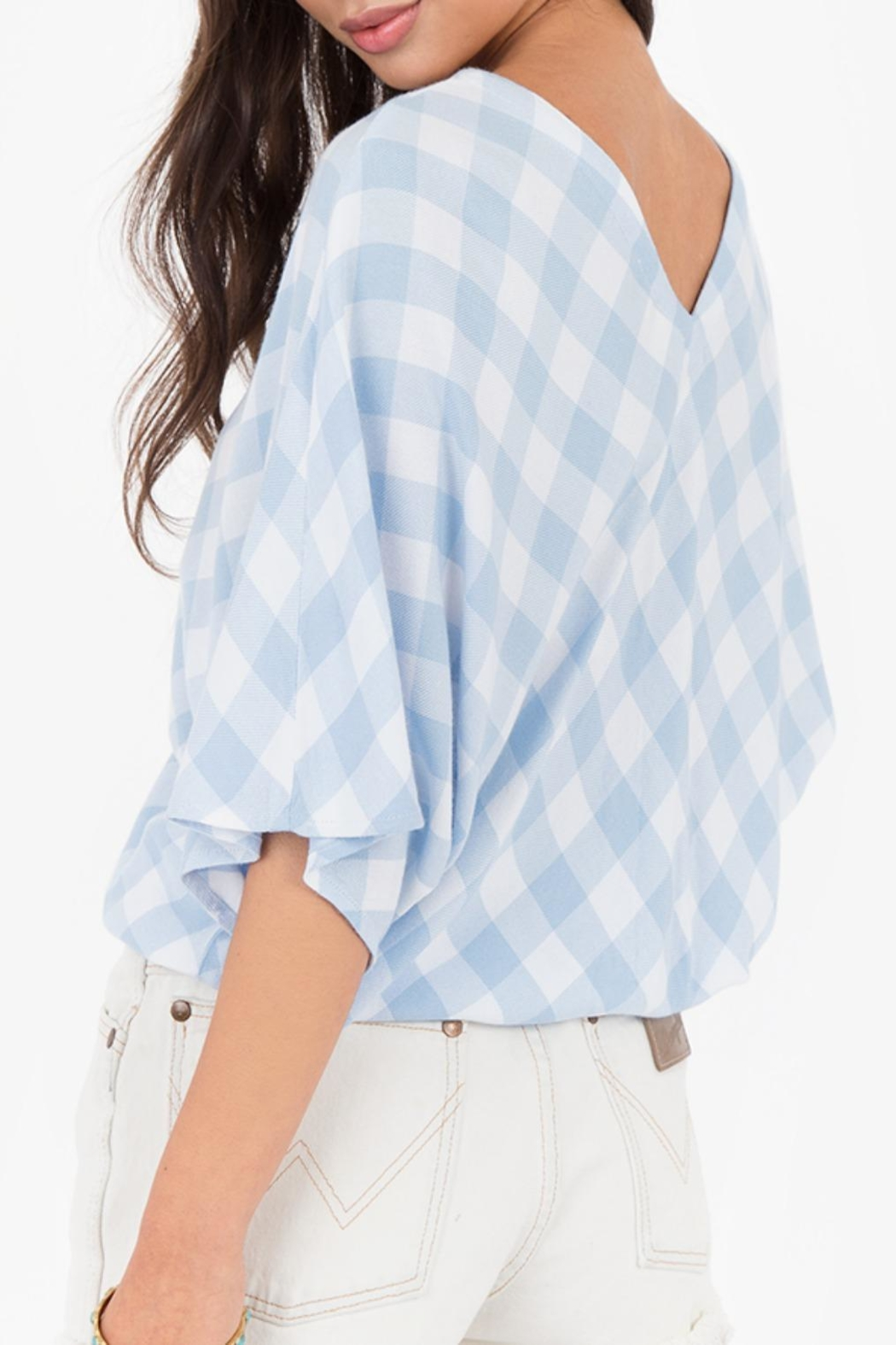 White Crow Plaid Overland Top - Front Full Image