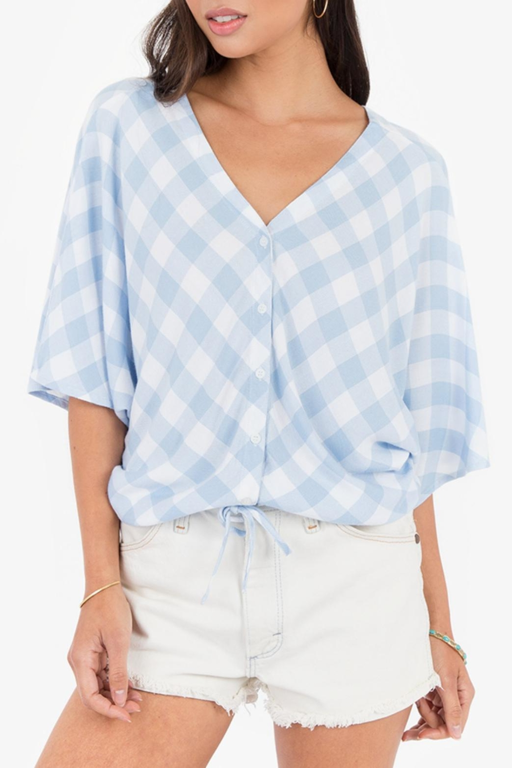 White Crow Plaid Overland Top - Front Cropped Image