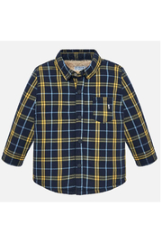 Mayoral Plaid Overshirt - Front cropped