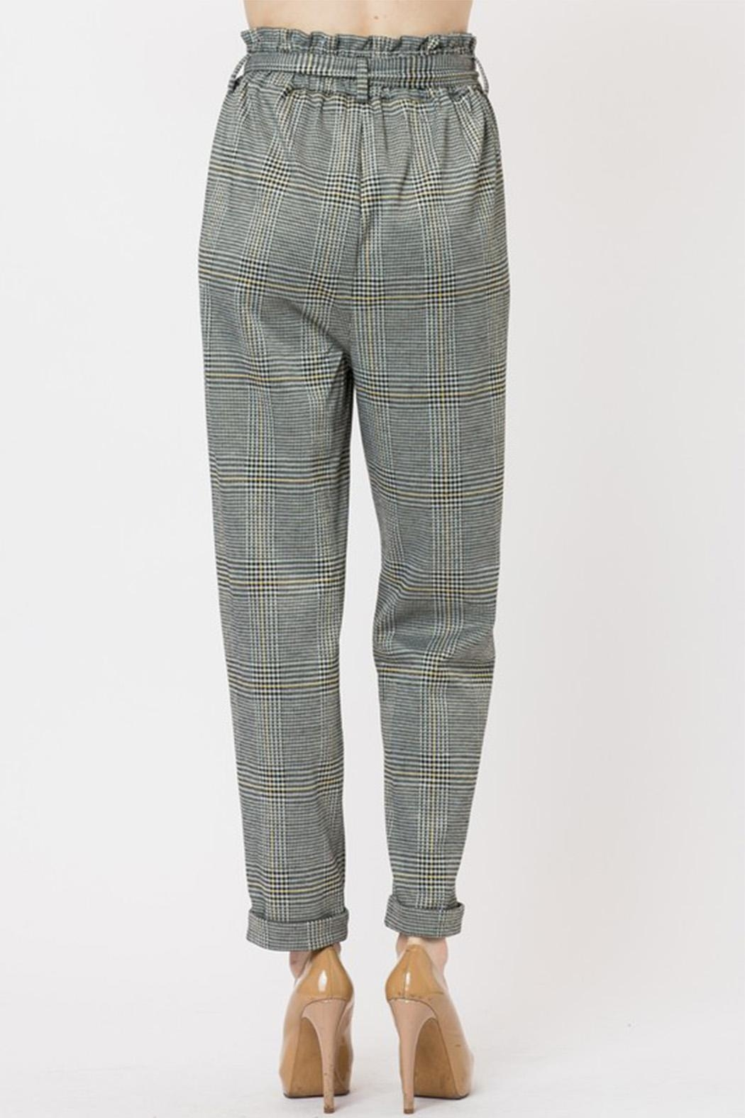 Love Tree Plaid Pants - Front Full Image