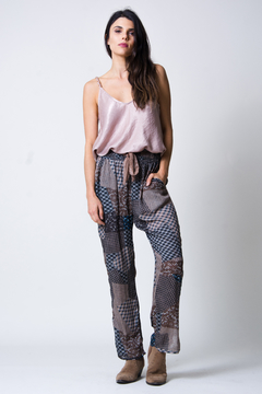 wanderlux  Plaid Patchwork Pant - Product List Image