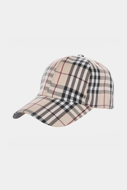 Embellish Plaid Pattern Hat - Front cropped