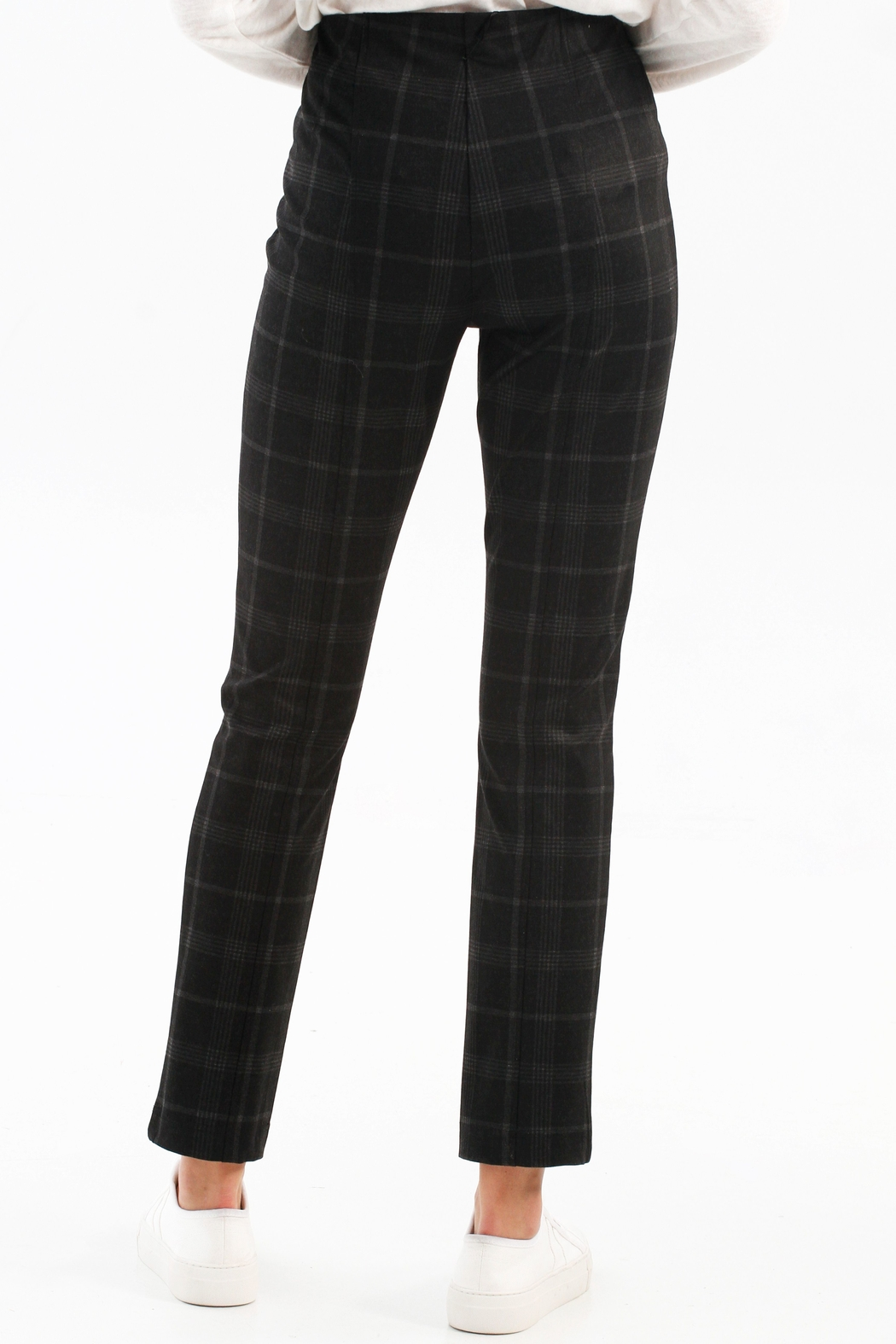 Charlie B. Plaid PDR Pull-On Pant - Front Full Image