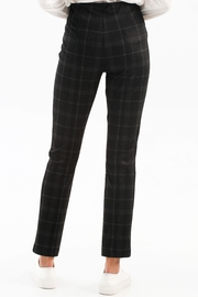 Charlie B. Plaid PDR Pull-On Pant - Front full body