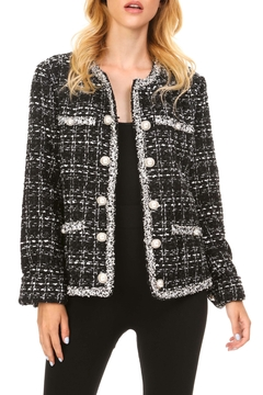 Shoptiques Product: Plaid Pearl Jacket