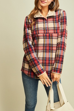 Entro Plaid Perfect fleece pullover - Product List Image