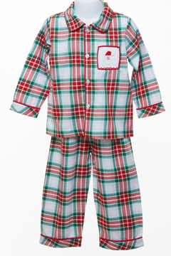 Banana Split Plaid Pj Set-Boys - Product List Image