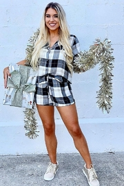 Olivaceous  Plaid PJ Short - Product Mini Image
