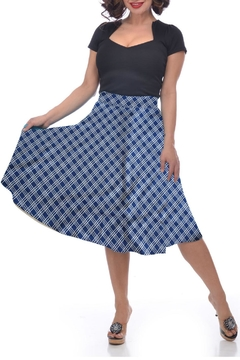 Shoptiques Product: Plaid Pocket Circle-Skirt