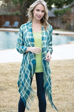 Multiples Plaid Poncho Shirt - Product List Image