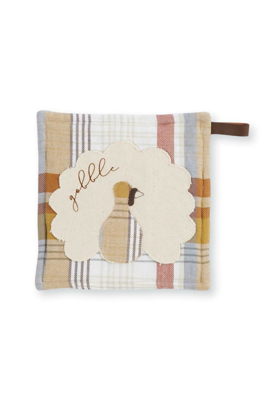 MUDPIE Plaid Pot Holder - Front Cropped Image