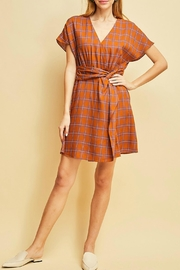 Entro Plaid Print Dress - Product Mini Image
