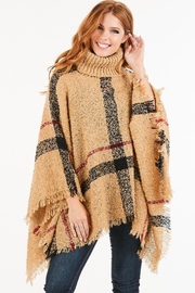 saints and hearts Plaid Print Poncho - Front cropped