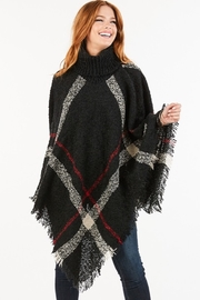 saints and hearts Plaid Print Poncho - Product Mini Image