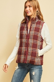 Entro Plaid Puffer Vest - Product Mini Image