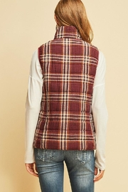 Entro Plaid Puffer Vest - Front full body