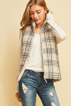 Shoptiques Product: Plaid Puffer Vest