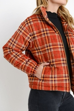 Paper Crane Plaid Puffy Jacket - Product List Image