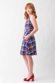 Smak Parlour Plaid Retro Dress - Side cropped