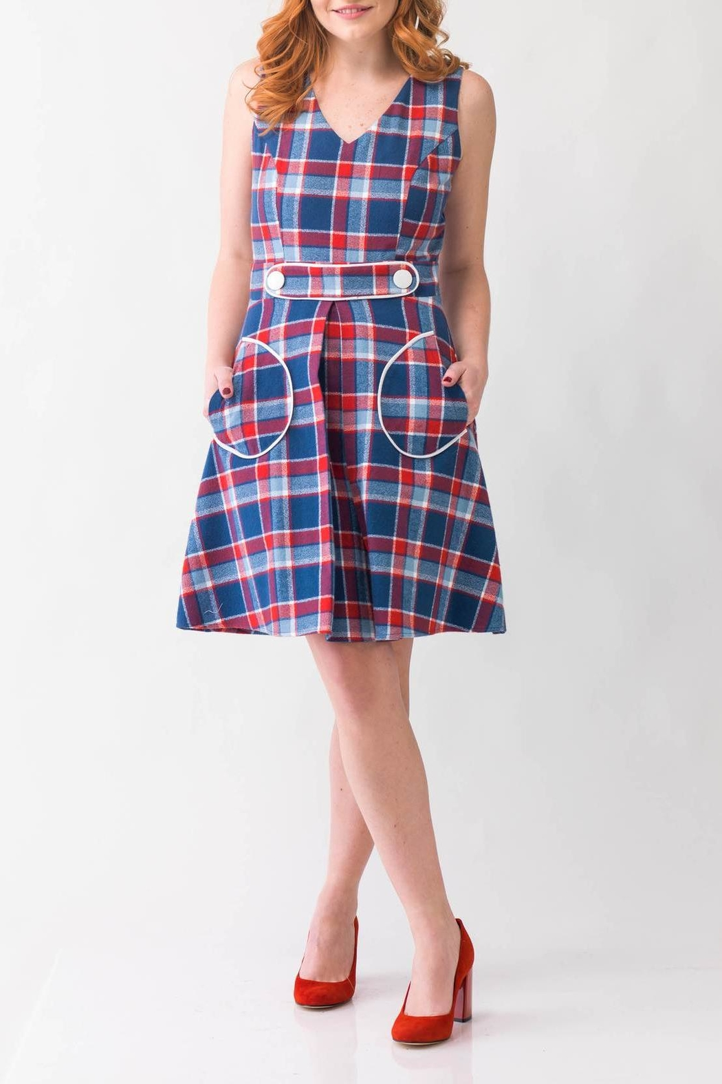 Smak Parlour Plaid Retro Dress - Main Image