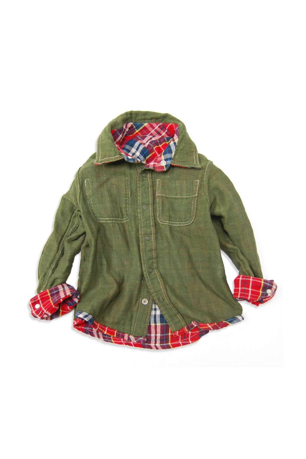 Bit'z Kids Plaid Reversible Button-Up - Front Full Image