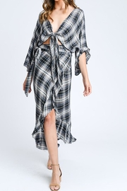 storia Plaid Ruffle Skirt - Product Mini Image