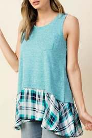 KORI AMERICA Plaid-Ruffle Tank Top - Product Mini Image