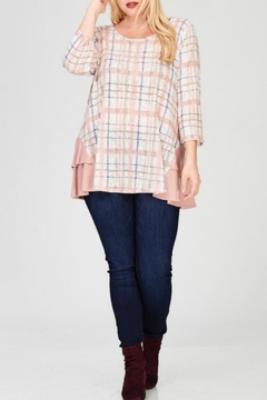 Janette Plus Plaid Ruffle Top - Alternate List Image