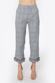 Sugarlips Plaid Ruffle Trouser - Product Mini Image