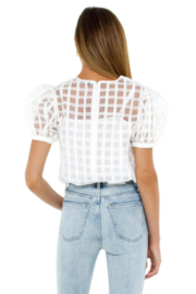 English Factory Plaid See Through Top - Side cropped