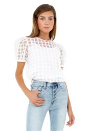 English Factory Plaid See Through Top - Front cropped