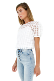 English Factory Plaid See Through Top - Front full body