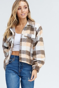 TIMELESS Plaid Shearling Coat - Product List Image