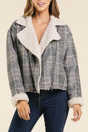 Miss Love Plaid Sherpa-Lined Hacket - Product Mini Image