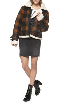 52545cef81 ... Dex Plaid Sherpa Lined Jacket with Buckles - Product List Placeholder  Image