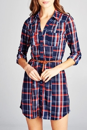 DNA Couture Plaid Shirt-Dress - Product Mini Image