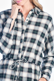 All In Favor Plaid Shirt Dress - Product Mini Image