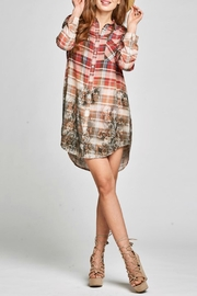 Oddi Plaid Shirt Dress - Product Mini Image