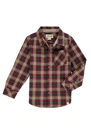 Me & Henry Plaid Shirt - Wine/Black - Product Mini Image
